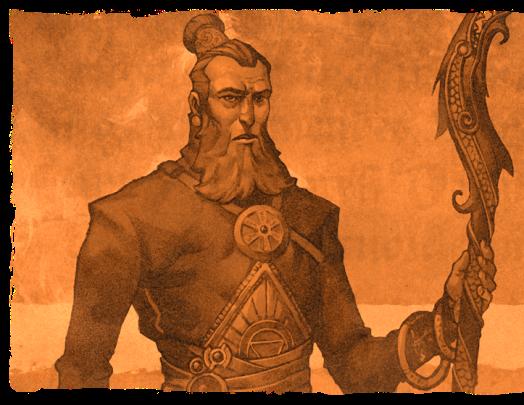 Mentor, o antigo Guardião do Livro da Sabedoria.
